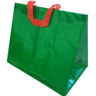 1 caja de 120 Bolsas lisa verde asa color 130gr 40x24x35