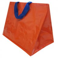 1 caja de 120 Bolsas lisa naranja asa color 130gr 40x24x35