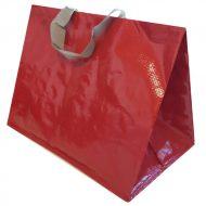 1 caja de 120 Bolsas lisa rojo asa color 130gr 40x24x35
