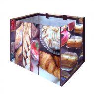 1 caja de 120 bolsas Pan y Pastel  160gr 39x28x34 cm