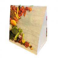 1 caja de 100 bolsas Fruta y verdura collage 100g  32x20x34 cm