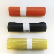 1 rollo 10 bolsas basura naranja 85cm x 105cm galga 150  100L