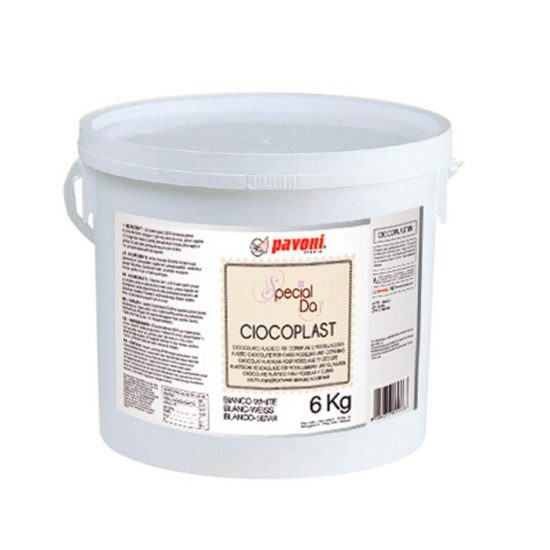 Modeling chocolate blanco 6 Kg