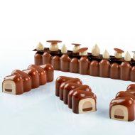 DADA - Molde negro en silicona mm 300x400-forma en 3D - en cajas Pavoni
