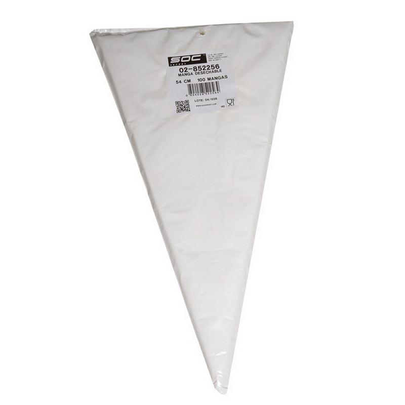 Bolsa triangular de 100 Mangas de 54cm Sueltas