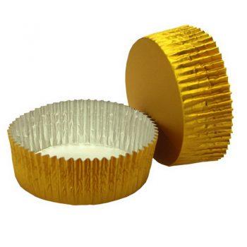 2500 Cápsulas aluminio  oro cuadrada 35x35
