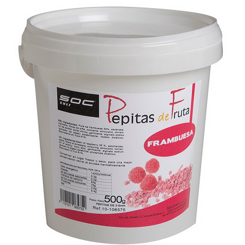 500g PEPITAS DE FRAMBUESA   3/5mm