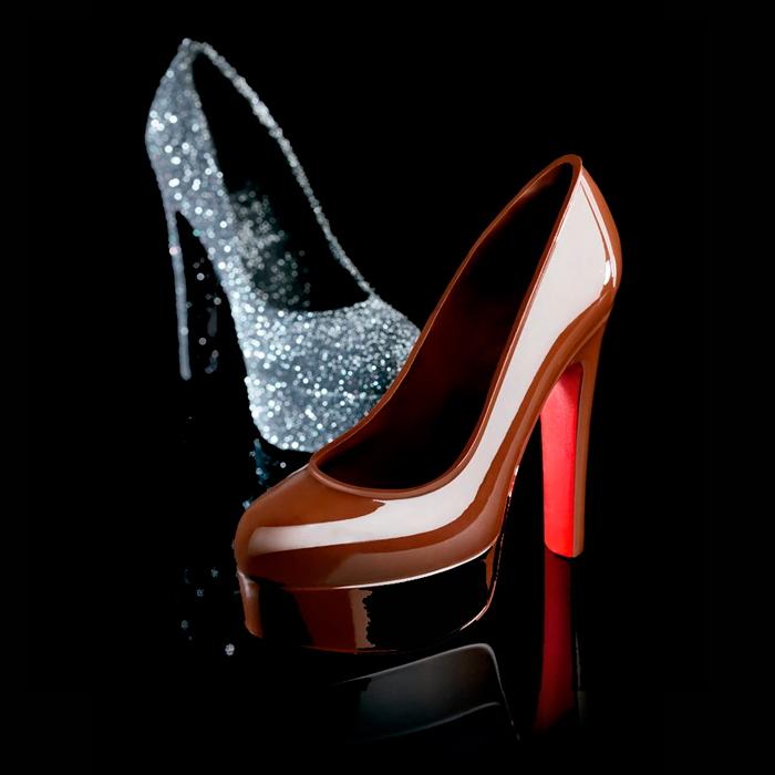 Molde policarbonato magnetico zapato con plataforma 170x70x155h mm