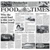 """PAPEL PERIÓDICO """"FOOD TIMES"""" - 100% CHEF"""