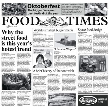 "PAPEL PERIÓDICO ""FOOD TIMES"" - 100% CHEF"