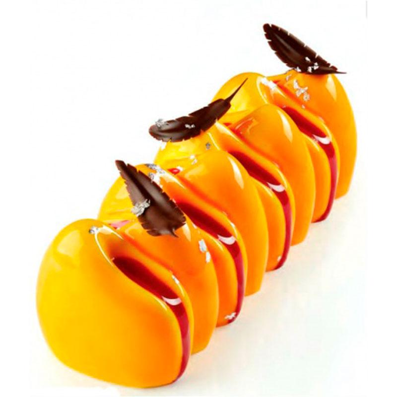 3D Molde para tarta Canyon 250x85x h 80mm en caja Pavoni