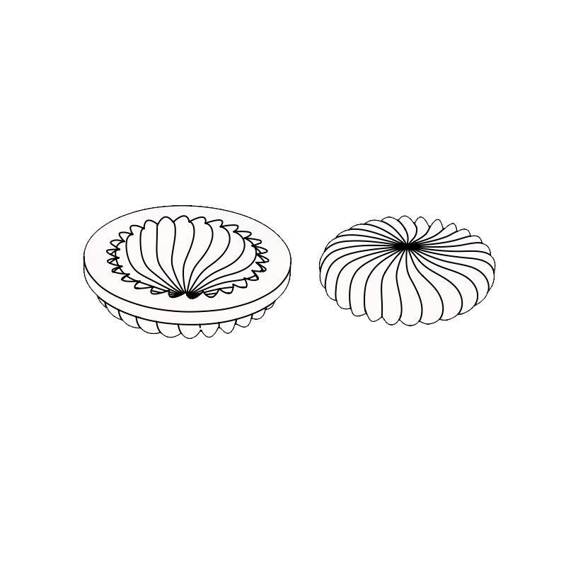 3D Molde para tarta Flip Ø 180 x h 45 mm en caja Pavoni