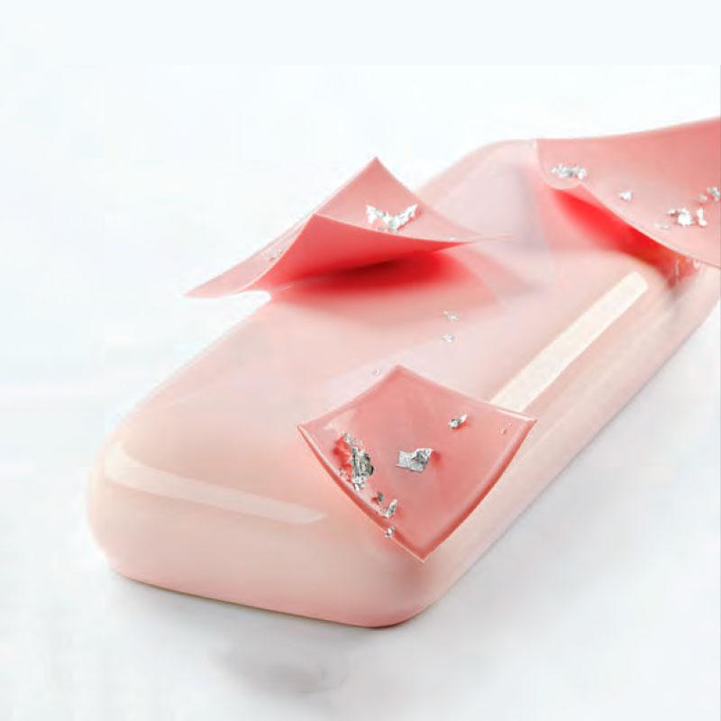 3D Molde para tarta Venus 250x100x h 40mm en caja Pavoni